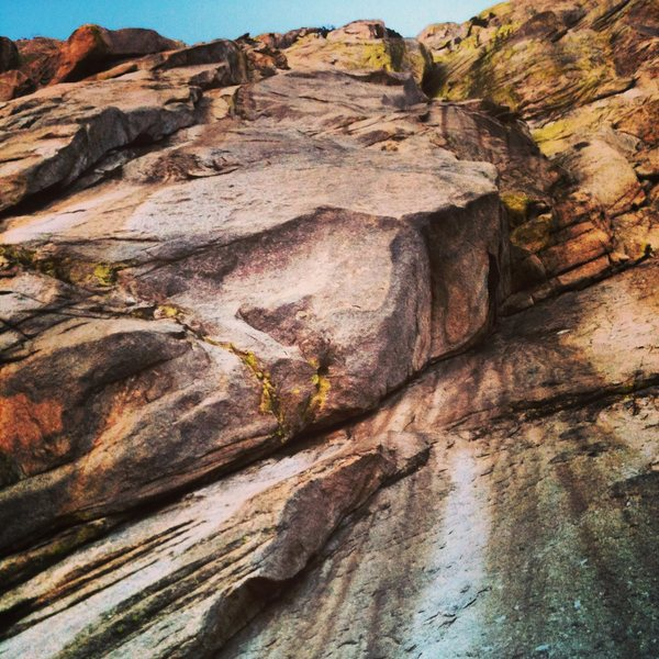 Rock Climbing Photo: From the bottom of peacemaker
