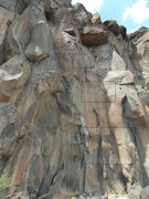 Rock Climbing Photo: This is high roof left. You start slightly to the ...