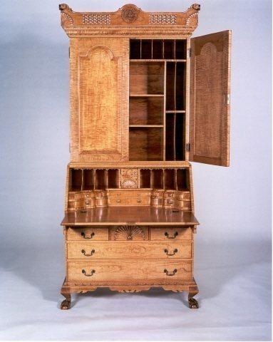 Dunlap-style Secretary Desk and Bookcase