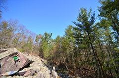 Rock Climbing Photo: Chris on the top.