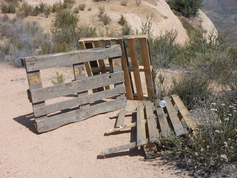 What are climbers doing with pallets in the First Collidor? If they're yours post up so the USFS can return them to you.