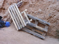 Rock Climbing Photo: What are these pallets doing in The Canyon? If you...