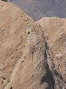 "Rock Climbing Photo: A party of three climbers on ""Tethys."""