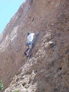 "Rock Climbing Photo: Pulling pockets on ""Itsy Bitsy Spider."""