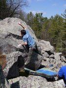 Rock Climbing Photo: Ian reaching at the top.