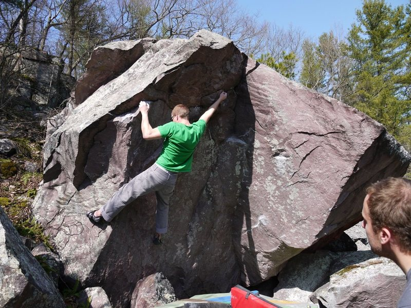 Rock Climbing Photo: Big moves on small holds.
