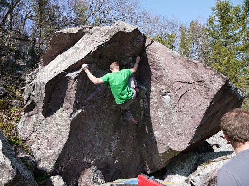 Rock Climbing Photo: Towards the end.