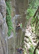 Rock Climbing Photo: Having fun on Sheer Stress.