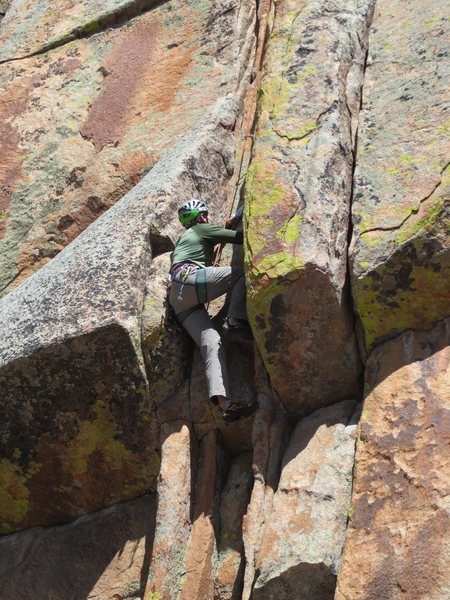 Rock Climbing Photo: Bert getting into the business. Harder than it loo...