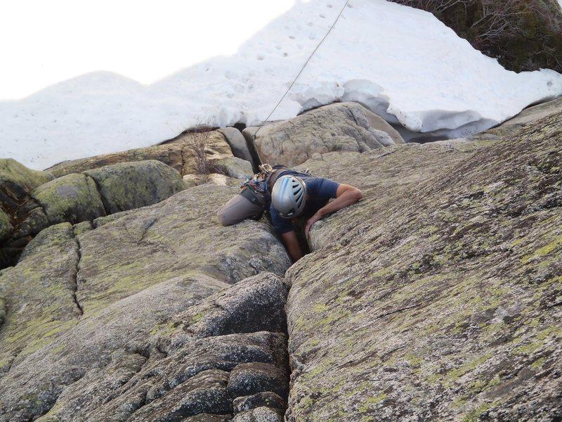 Rock Climbing Photo: Early season sending.