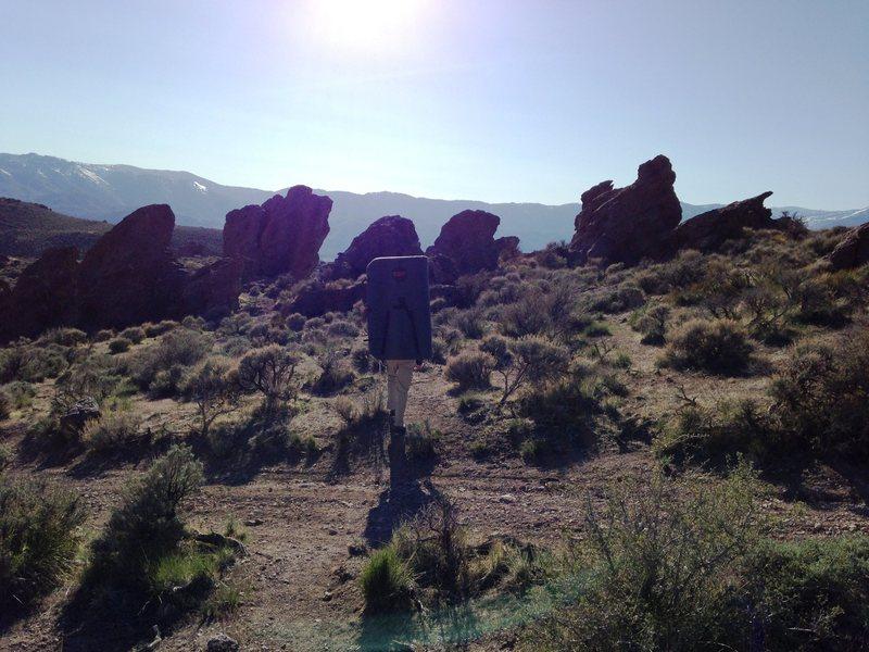 Approaching Washoe Boulders