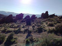 Rock Climbing Photo: Approaching Washoe Boulders