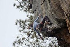 Rock Climbing Photo: Hard clippin'