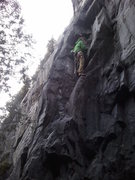 Rock Climbing Photo: Eric working through the bottom section of Domino ...