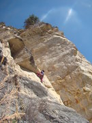 Rock Climbing Photo: Tator pulling the roof.