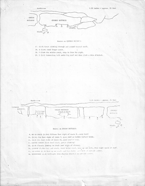 First Blue Mounds route guide - page 2, circa 1975