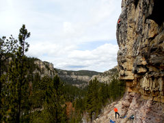 Rock Climbing Photo: Great views at Blue Sky.