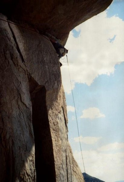 Rock Climbing Photo: Paul Horak pulling the roof in 1977 ...