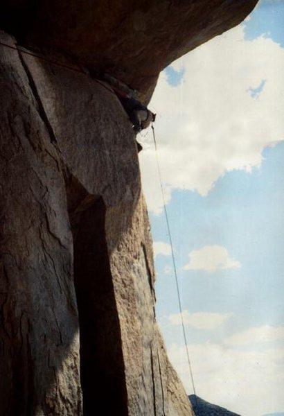 Paul Horak pulling the roof in 1977 ...