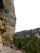 Rock Climbing Photo: A sweet intimidating line