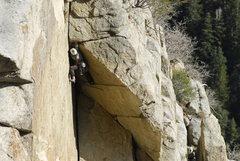 Rock Climbing Photo: Fighting through the last corner.