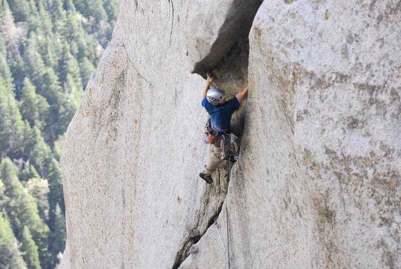 Rock Climbing Photo: Busting the crux.