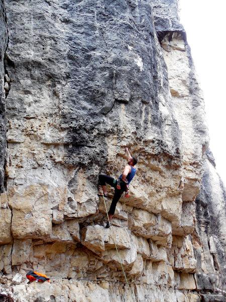 Rock Climbing Photo: Eric starting out on Black Slabbath.