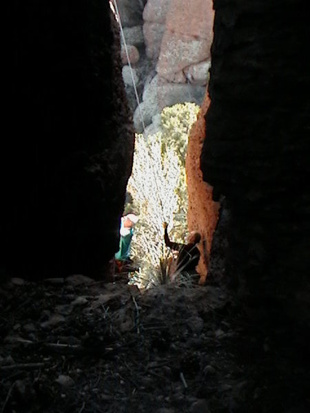 Rock Climbing Photo: Working on the line Gypsy Conditions, down inside ...