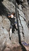 Rock Climbing Photo: Rah H. TRing at the beginning of Sherlocked.