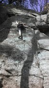 Rock Climbing Photo: Rah H. on TR, attempting crux. Resolved to use a d...