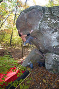 Rock Climbing Photo: Jason Kehl on Atlas V5 at the Holy Boulders. Photo...