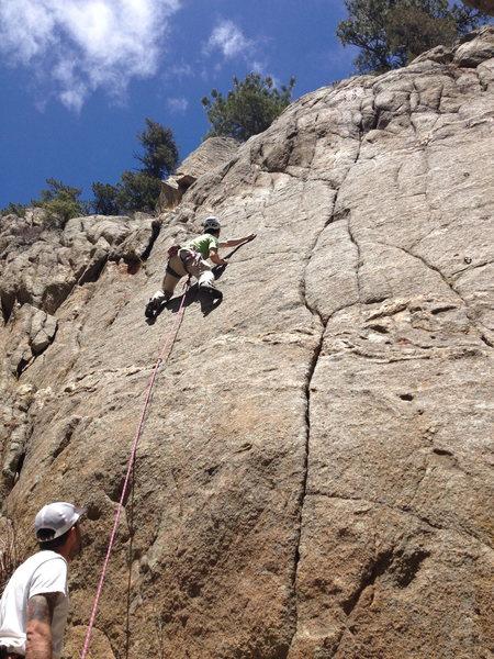 Rock Climbing Photo: Fun slab.