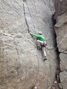 Rock Climbing Photo: Clearing the opening bulge.