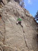 Rock Climbing Photo: Looking at the final bulge.