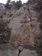 Rock Climbing Photo: The crack in the center of the photo....