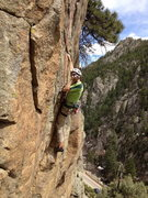 Rock Climbing Photo: A little steep and awkward....