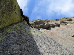 Rock Climbing Photo: hard stemming mixed with face climbing, luckily th...