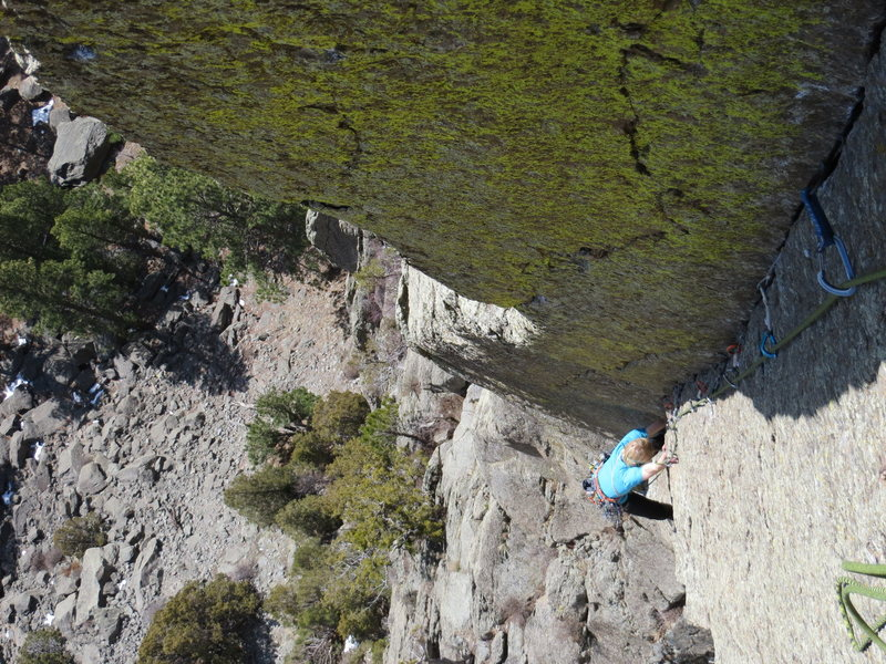 Rock Climbing Photo: great/only warm-up for adjacent routes