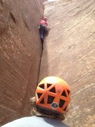 Rock Climbing Photo: Matt Kuehl leading up splitter wide hands on the M...