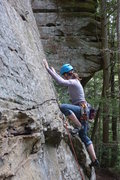 Rock Climbing Photo: Just above the first bolt.