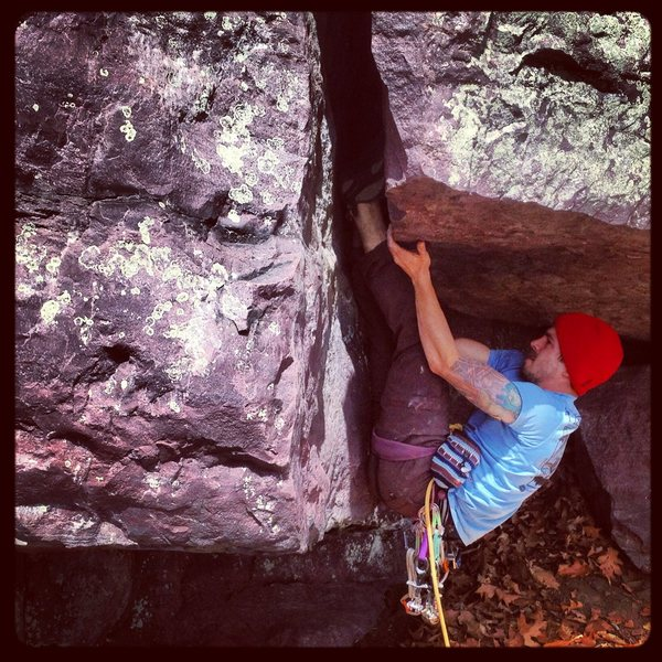 Rock Climbing Photo: Giving Chair Bivy the old ground up go. It is hard...