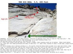 Rock Climbing Photo: Topo for The Big Deal (better topo to come soon)