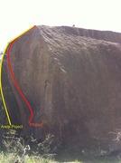 "Rock Climbing Photo: Rhyan atop ""The Gilligan Boulder"". Host ..."