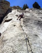 Rock Climbing Photo: The beginning of Pitch 3 on The Big Deal