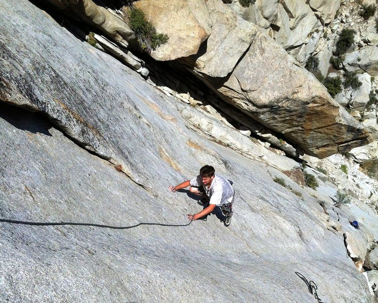 Rock Climbing Photo: Looking down Pitch 3 of The Big Deal