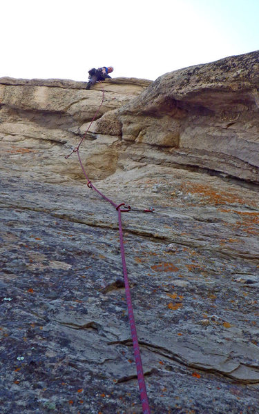 Rock Climbing Photo: Erik Wolfe moving through the roof section of Lowe...