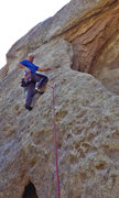 Rock Climbing Photo: Starting up the arete of Overhanger