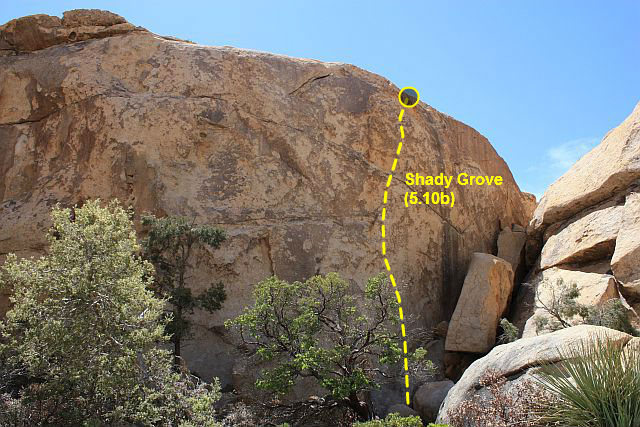 Shady Grove (5.10b), Joshua Tree NP