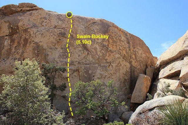 Rock Climbing Photo: Swain-Buckey (5.10c), Joshua Tree NP