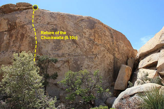 Return of the Chuckwalla (5.10c), Joshua Tree NP